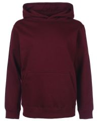 CANISBAY  PRIMARY SCHOOL BURGUNDY  PULLOVER HOODIE WITH LOGO